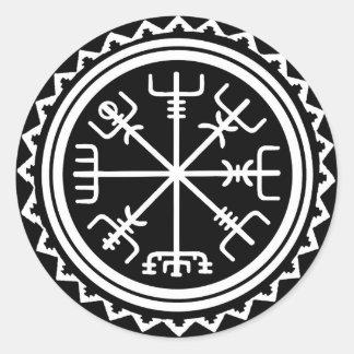 Viking Vegvisir Compass Classic Round Sticker