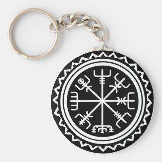 Viking Vegvisir Compass Keychain