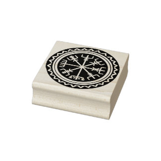Viking Vegvisir Design Rubber Stamp Tool