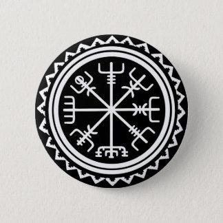 Viking Vegvisir Nautical Compass 2 Inch Round Button