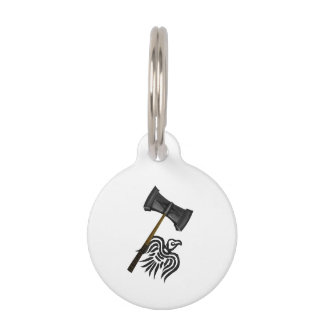 Viking War Hammer Thor Pet Nametag