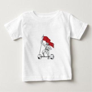 Viking Warrior Barbell Waving Flag Retro Baby T-Shirt