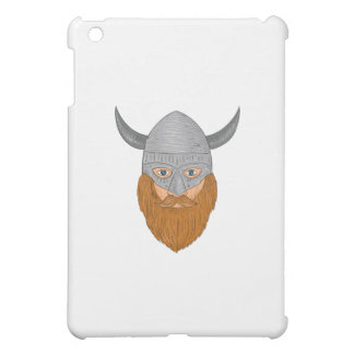 Viking Warrior Head Drawing Case For The iPad Mini