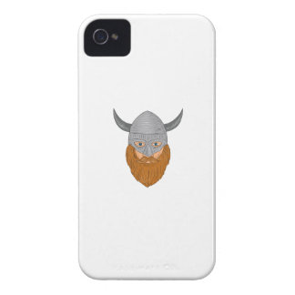 Viking Warrior Head Drawing Case-Mate iPhone 4 Cases
