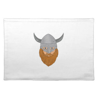 Viking Warrior Head Drawing Placemat