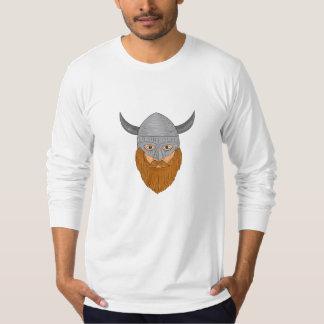 Viking Warrior Head Drawing T-Shirt