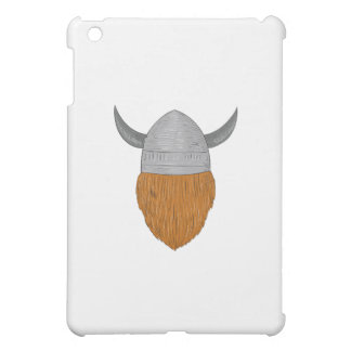 Viking Warrior Head Rear View Drawing Case For The iPad Mini