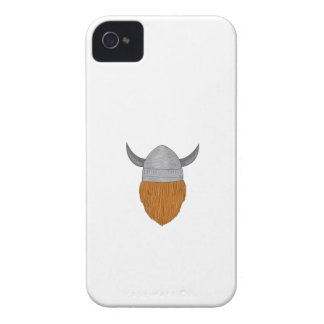 Viking Warrior Head Rear View Drawing iPhone 4 Covers