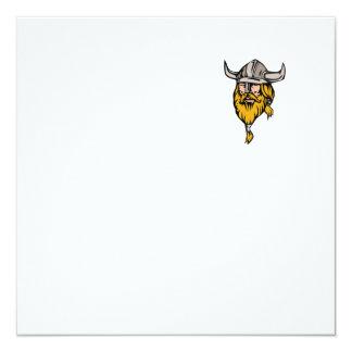 Viking Warrior Head Retro Card