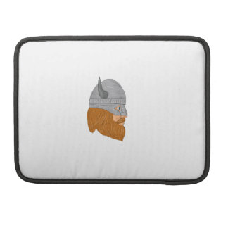Viking Warrior Head Right Side View Drawing Sleeve For MacBook Pro
