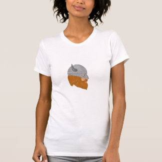 Viking Warrior Head Right Side View Drawing T-Shirt