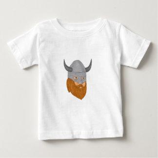 Viking Warrior Head Three Quarter View Drawing Baby T-Shirt