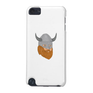 Viking Warrior Head Three Quarter View Drawing iPod Touch (5th Generation) Case