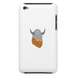 Viking Warrior Head Three Quarter View Drawing iPod Touch Cover