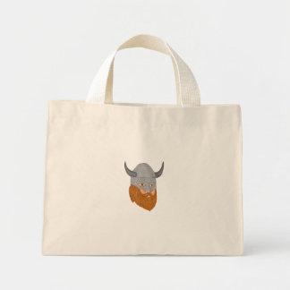 Viking Warrior Head Three Quarter View Drawing Mini Tote Bag