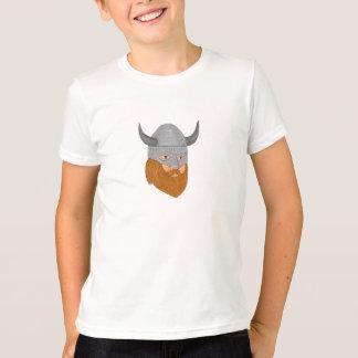 Viking Warrior Head Three Quarter View Drawing T-Shirt