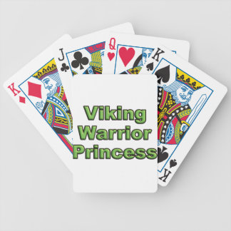 Viking Warrior Princess Bicycle Playing Cards
