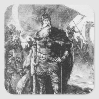 Viking Warrior Square Sticker