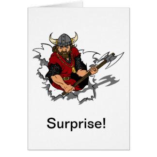 Viking Warrior Surprise Card