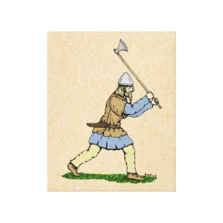 Viking Wielding Broad-Axe Canvas Print