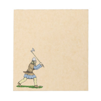 Viking Wielding Broad-Axe Notepad