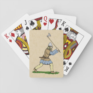Viking Wielding Broad-Axe Playing Cards
