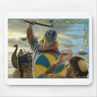 Vikings Attacking Lindisfarne Priory Mouse Pad