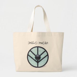 Vikings inspired Shield Maiden Large Tote Bag