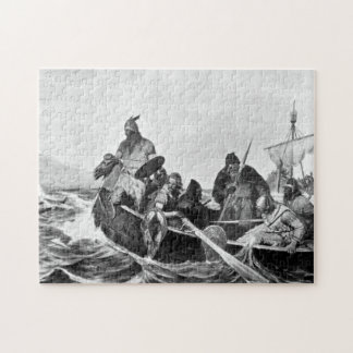 Vikings Landing in Iceland Illustration (1909) Jigsaw Puzzle