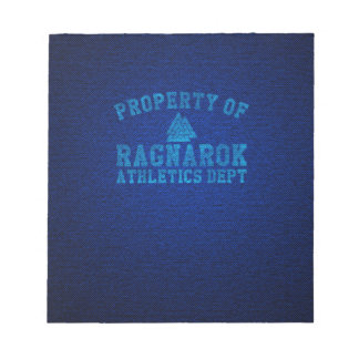 Vikings Property of Ragnarok Athletics Department Notepad