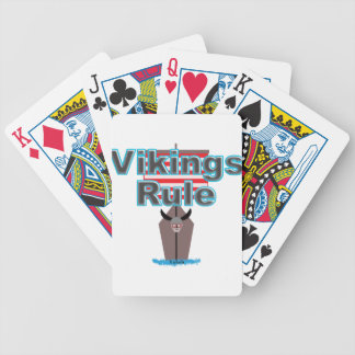 Vikings Rule Bicycle Playing Cards
