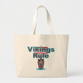 Vikings Rule Large Tote Bag