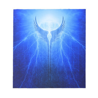 Vikings Valkyrie Wings of Protection Storm Notepad