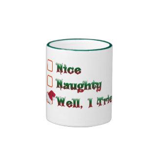 vilain ou gentil j'ai essayé la conception de mug ringer