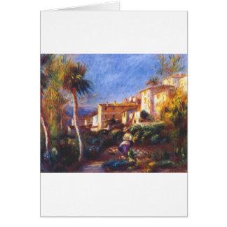 Villa de la poste at cagnes Pierre-Auguste Renoir Card