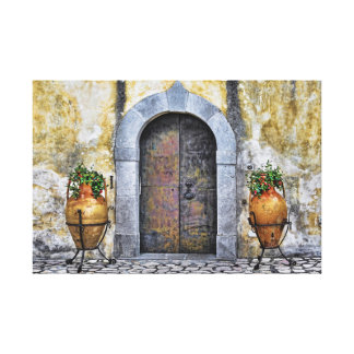Villa entrance canvas print