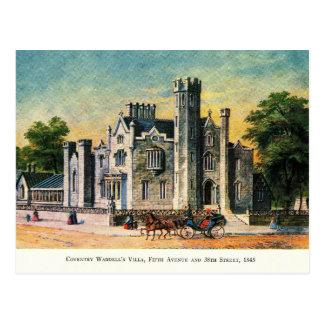 Villa, Fifth & 38th, New York City Vintage Postcard