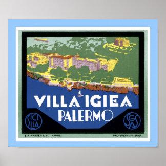 Villa Igiea Palermo Poster