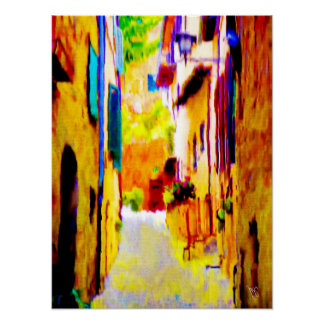 Villa in Corleone on Canvas 15x20 Poster