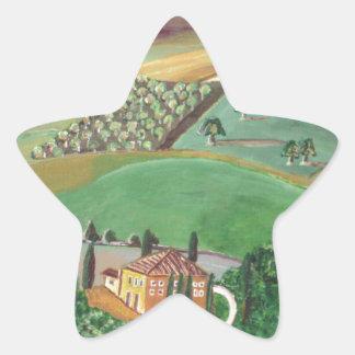 Villa in the Hill Star Sticker