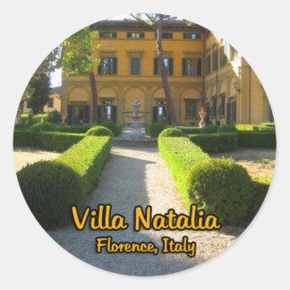 Villa Natalia Florence Italy Round Sticker