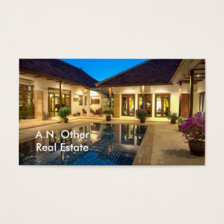 Villa with swimming pool business card