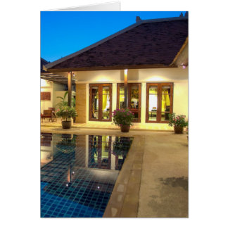 Villa with swimming pool card