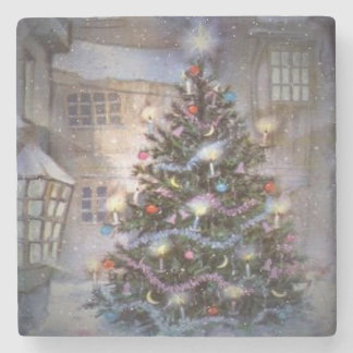 Village Christmas Stone Coaster