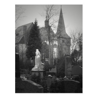 Village Church and Cemetery Postcard