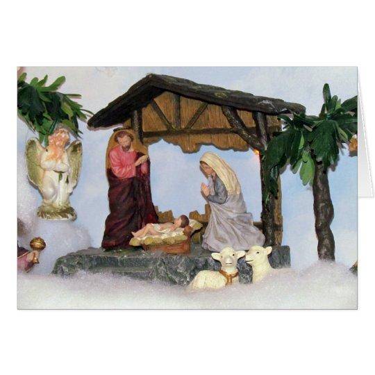Village Creche Christmas Card