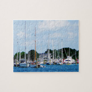 Village Dock at Wickford RI Jigsaw Puzzle