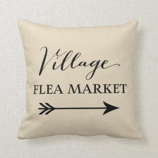 Village Flea Market Arrow Decorative Throw Pillow