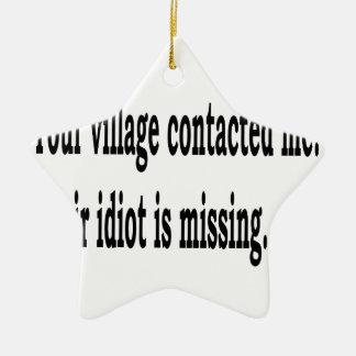 Village Idiot Ceramic Star Ornament