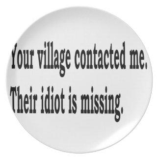 Village Idiot Plate